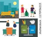 separation recycle bin banner... | Shutterstock .eps vector #1170956215