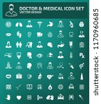 doctor and medical vector icon... | Shutterstock .eps vector #1170960685