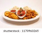 italian appetizer sampler... | Shutterstock . vector #1170963265