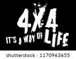 4x4 it is my way of life. quote ... | Shutterstock .eps vector #1170963655