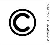 copyright icon  copyright... | Shutterstock .eps vector #1170964402