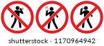 set no sign  no walk smoking ... | Shutterstock .eps vector #1170964942
