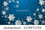 christmas illustration with... | Shutterstock .eps vector #1170971755