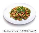 tabbouleh salad with burghul or ... | Shutterstock . vector #1170972682