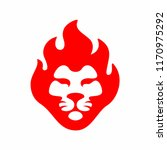 lion fire logo icon mascot... | Shutterstock .eps vector #1170975292
