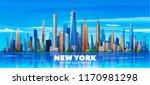 new york   united states  ... | Shutterstock .eps vector #1170981298
