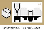 paper box with suspenders and... | Shutterstock .eps vector #1170982225
