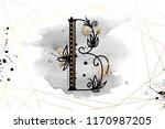 uppercase letter b with... | Shutterstock .eps vector #1170987205