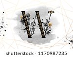 uppercase letter w with... | Shutterstock .eps vector #1170987235