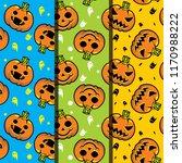 halloween background seamless... | Shutterstock .eps vector #1170988222