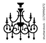 classic chandelier vector icon ... | Shutterstock .eps vector #1170990472