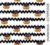 vector illustration. halloween... | Shutterstock .eps vector #1170991528