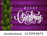 holiday gift card with hand... | Shutterstock .eps vector #1170995875
