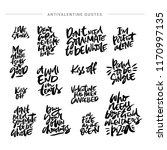 collection of brush lettering... | Shutterstock .eps vector #1170997135