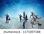 business people in uncertainty...   Shutterstock . vector #1171007188