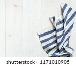 view from above on white wooden ...   Shutterstock . vector #1171010905