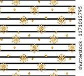 christmas gold snowflake... | Shutterstock .eps vector #1171012795