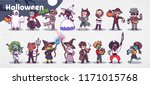vector set with cute children... | Shutterstock .eps vector #1171015768