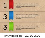 vector one two three steps... | Shutterstock .eps vector #117101602