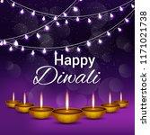 creative diwali festival... | Shutterstock .eps vector #1171021738