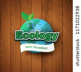 paper art and craft of ecology... | Shutterstock .eps vector #1171022938