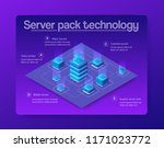 the server room data digital... | Shutterstock .eps vector #1171023772