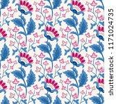 jacobean floral illustration. ... | Shutterstock .eps vector #1171024735