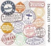 munich germany stamp vector art ... | Shutterstock .eps vector #1171033792