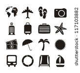 black vacation  icons isolated... | Shutterstock .eps vector #117103882