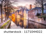 winter sunset in bruges  belgium | Shutterstock . vector #1171044022