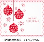 merry christmas and happy new... | Shutterstock .eps vector #117104932
