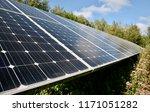 solar panels in the british... | Shutterstock . vector #1171051282
