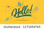 hello. lettering for banner ... | Shutterstock .eps vector #1171054765