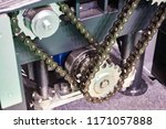 chain drive and gear in the... | Shutterstock . vector #1171057888