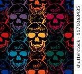 halloween seamless pattern with ...   Shutterstock .eps vector #1171063435
