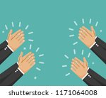 human hands clapping. applaud... | Shutterstock .eps vector #1171064008