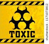 sticker   toxic waste. design... | Shutterstock .eps vector #1171073812