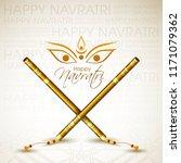 illustration of navratri with... | Shutterstock .eps vector #1171079362