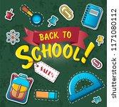 back to school concept...   Shutterstock .eps vector #1171080112