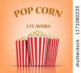 popcorn flavors concept...   Shutterstock .eps vector #1171080235