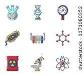 biochemistry icons set. cartoon ... | Shutterstock .eps vector #1171080352
