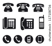 Phone Icons  Vector Illustration