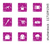 walking cloudy icons set.... | Shutterstock .eps vector #1171091545