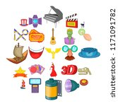 picture show icons set. cartoon ...   Shutterstock .eps vector #1171091782