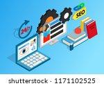 seo clip art. isometric clip... | Shutterstock .eps vector #1171102525