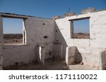 building in ghost town in namib ... | Shutterstock . vector #1171110022