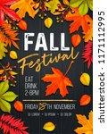 seasonal fall festival poster... | Shutterstock .eps vector #1171112995