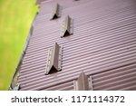 close up detail of metal brown... | Shutterstock . vector #1171114372