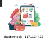 business series   buy online... | Shutterstock .eps vector #1171124422