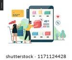 business series   buy online... | Shutterstock .eps vector #1171124428